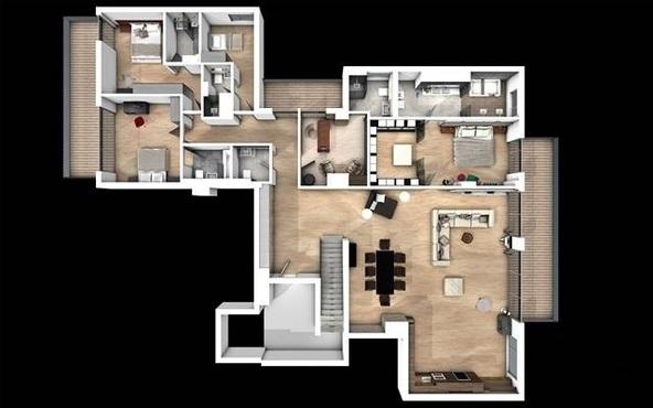 penthouse Aviatiei plan 1