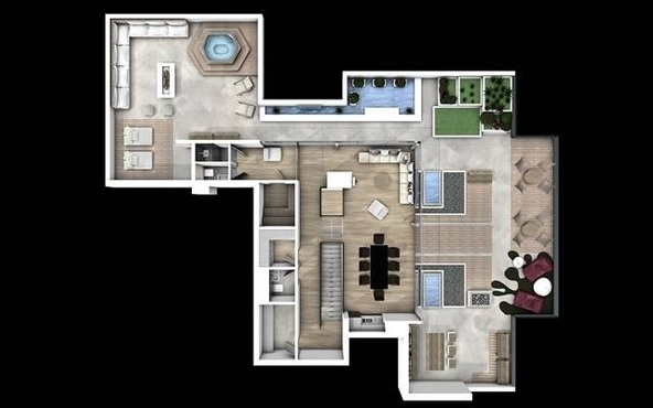 penthouse Aviatiei plan 2