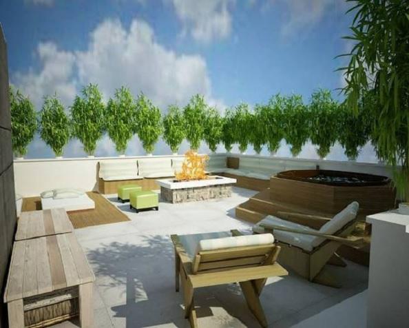 penthouse Aviatiei terasa 2