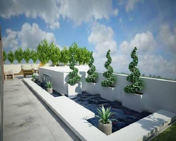 penthouse Aviatiei terasa 3