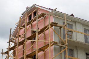 casa caramida in constructie