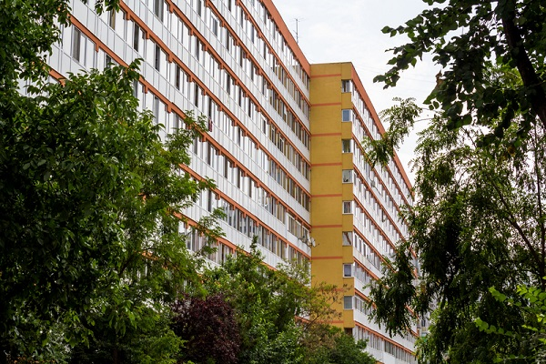 http://www.dreamstime.com/stock-photos-apartment-building-renovated-blocks-flats-boulevard-pantelimon-bucharest-romania-image32160493