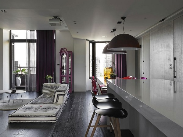 Color contrast apartment 3
