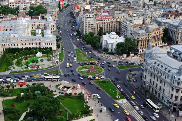 http://www.dreamstime.com/stock-photography-aerial-view-downtown-bucharest-image25287272