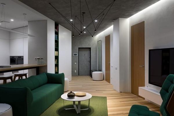 green minimalist apartment 2