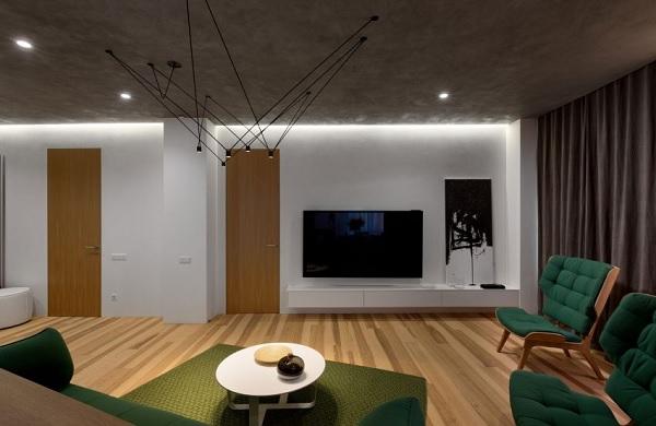 green minimalist apartment 3