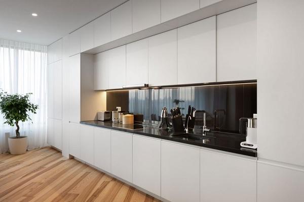 green minimalist apartment 5