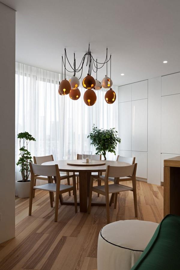 green minimalist apartment 6