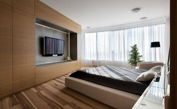 green minimalist apartment 9