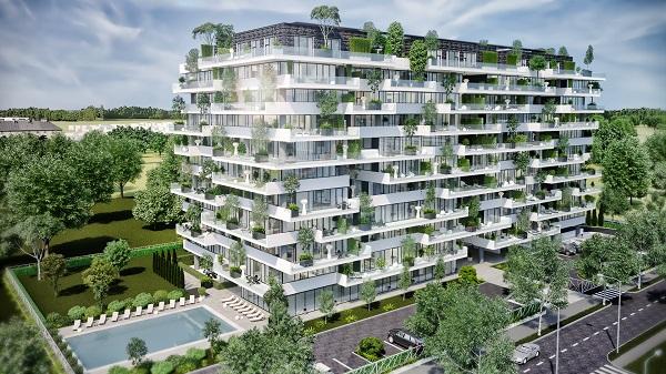 Beneficiile unei case la curte aproape de centrul orasului: ansamblul cu padure verticala