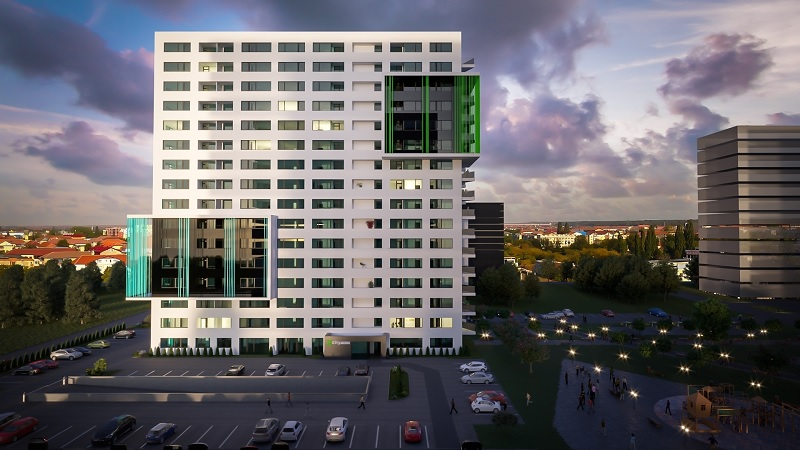 A început construcția celui de-al doilea turn de apartamente din XCity Towers, Timișoara. La finalizare va avea aproape 1.000 de unități